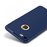Luxury Dark Blue Matte Soft Silicon Case for iPhone